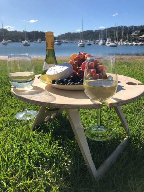 picnic table with view